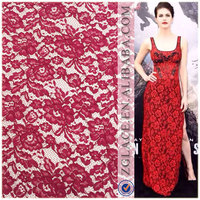 fashion Design elastic jacquard raschel lace for garments