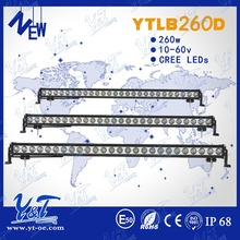 Latest edition 200cc atv parts 260W led 48v light bar/strip light 48inch top light bar truck