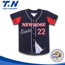 2015 custom sublimation baseball & softball shirts wholesale
