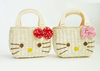 wholesale beach bag new model hello kitty straw bags for kids