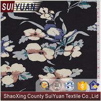 wholesale shaoxing mnc printed weaving rayon fabric