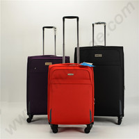 Cloth luggage soft fabric suitcase and carryon type luggage set