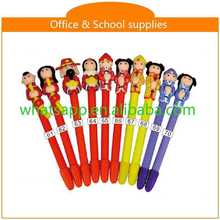 Design Cartoon Polymer Clay Ball Pen For Gifts blue metal promotional pen