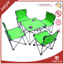 Portable camping folding table and chairs set
