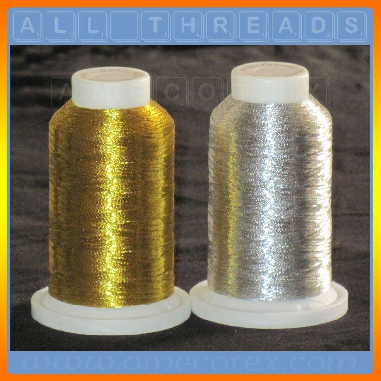 machine embroidery metallic thread