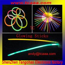 chemical colorful star flashing light sticks