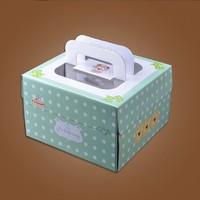 Good quality 10'' bear green portable cake box/cheese cake box/cake packaging box/birthday cake box#KZ0072-10
