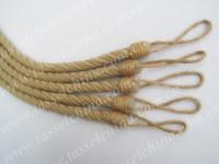 Elegant jute rope tiebacks, decorative curtain tieback cord & rope, Qianxi CR011