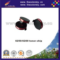 (TY-X6250T) compatible rf ic smart toner chip for Xerox 6250 6200 106R00675 16200800 bkcmy 8K pages