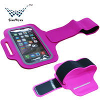 2015 New Arrival Factory Wholesale High Quality Lycra Sports Running Jogging Gym Armband Case for iPhone 6
