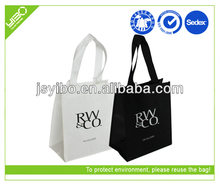 Customized recycled logo print laminated non woven honey packaging shopping bags