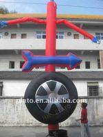advertising inflatable tyre cheap air dancer for sale