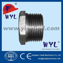 ASTM A105 Forged steel pipe fittings thread hex head plug