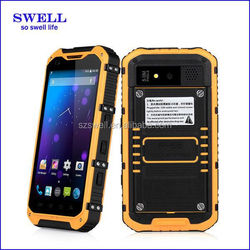 2015 latest 4.3inch rugged smartphone quad core waterproof phone built-in NFC