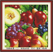 YIWU SUPPLYING CANVAS PAINTING THE FRUIT DECORTIVE PICTURE