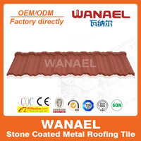 Wanael popular stone coated steel roof tile/corrugated roof shingles