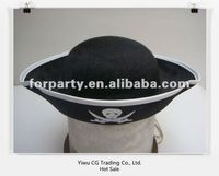 PCH-0019 HOT! Party pirate black novelty hats with cool logo