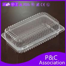 Rectangular plastic box and cake box