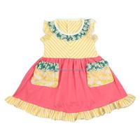 Baby boutique clothing wholesale children girl dress kids cotton frocks design
