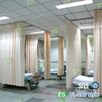 Polyester Fabric Drape Flame Retardant Hospital Disposable Curtain