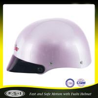 Cartoon light purple mini horse riding ladies half helmet