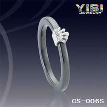 caliente cerámica fábrica de joyería de plata, anillo de plata de cerámica herm