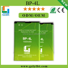 High quality BP-4L/E6 1200mah Mobile Battery Cell Phone li battery for Nokia BP-4L/E6