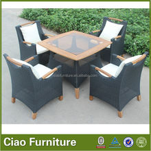 high quality restaurant table set/teak wood outdoor table set