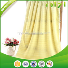 Yellow Cotton Towel 100 Cotton Terry Plain Solid