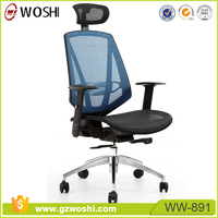 Woshi OFFICE Ergonomic Office Chair, High Back Mesh Chair Executive chair with Adjustable Headrest and Armrest
