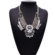 2015 New Fashion Woman Pendant Necklaces Luxury Crystal Multi ayer Necklace Gold Maxi Women High Statement Jewelry