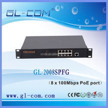 8 port 10/100M + 1 GE combo POE switch 802.3at CISCO Swith TP LINK