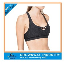 polyester/spandex adult sexy sport bra