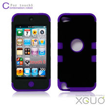 Hot&new fashion robot three layer hard case for Ipod touch5 cover for touch5