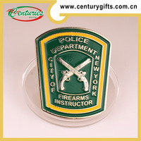 Kunshan custom high quality silver metal challenge coin, the theme of police departmen, various designs are accepted