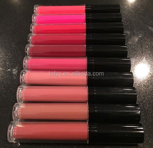 Hot sell ! ! ! your own brand liquid lip shine lip gloss with led light and mirror