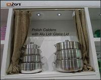 Heavy Gauge Polish Aluminum Caldero/ Caldron