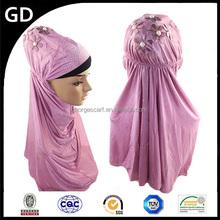 Gdhh0928 decorado con las perlas y bordar flores musulmán tribal de la bufanda del bordado
