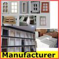 Moderne en bois massif mdf pvc porte châssis high gloss acrylique porte d'armoire de cuisine fabricant