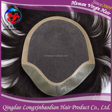 Lace Front Fine Mono Hairpiece/Toupee for Men, Toupee For Men Peruvian Hair Injection Type