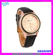 Wholesale women geneva 18k gold watches accept paypal with thin case