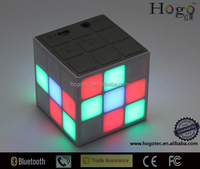 Portable Speaker with USB charger With LED Light and 3.5mm Audio Cable Magic flash Cube Bluetooth Speaker