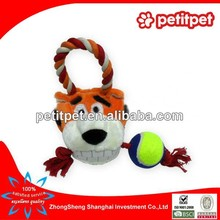 pet products/dog toy/plush tiger