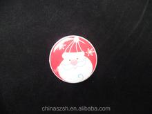 Glowing christmas badge colorful led flashing badge for party new style led flashing badge pin