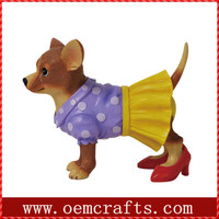 Attractive purple dress Collectible dog Figurines