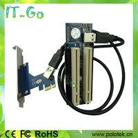 Wholesale PCIe PCI express x1 , x4 , x8 , x16 to 2 PCI adapter PCI-e to external dual PCI slot card