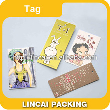 Customize fashion garment hang tags / clothing swing tags / competitive price