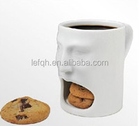 Assorted Color 400ml Ceramic Biscuit Mug For Advertising