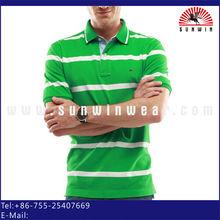 los hombres slim raya teñida hilado camisa de polo <span class=keywords><strong>bordado</strong></span> oem