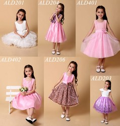 2015 Newest Kids Frocks Designs For Baby Gils Wedding Party Evening Wear Flower Girl Dress Princess Fairy Costume